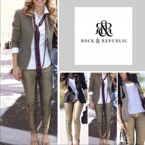 Rock & Republic New Berlin Skinny jeans green 6 M